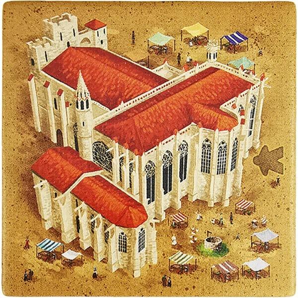 Carcassonne - Wirtshäuser und Kathedralen Plättchen EK Variante II