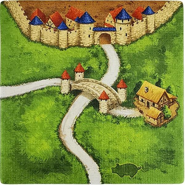 Carcassonne - Händler und Baumeister Plättchen HC