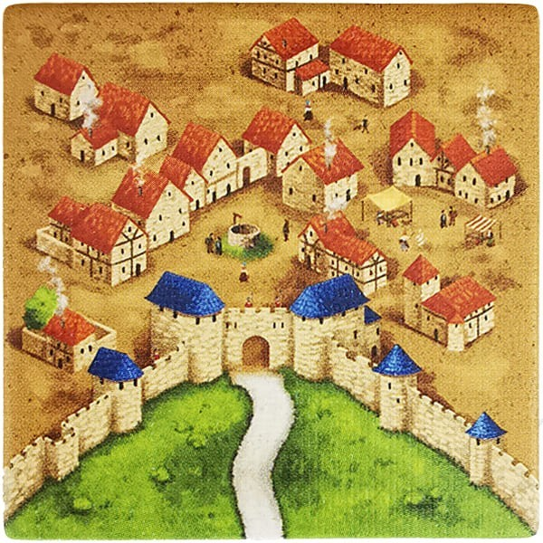 Carcassonne Plättchen T 1 / 1