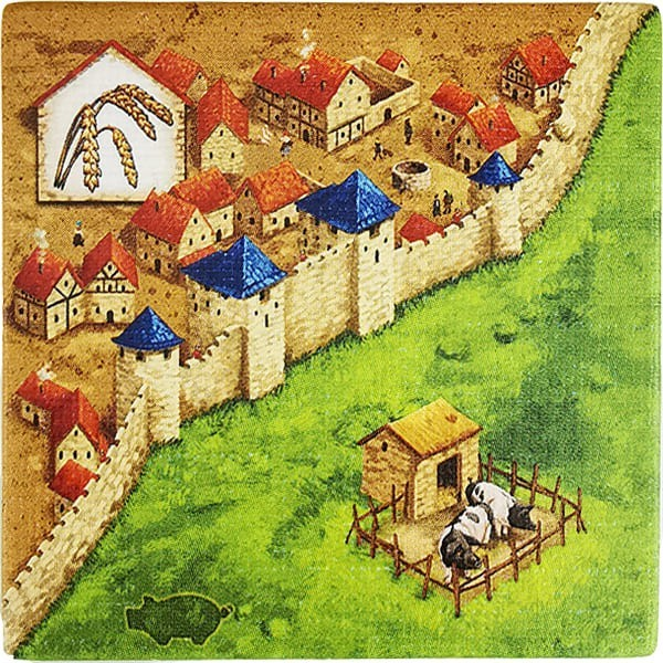 Carcassonne - Händler und Baumeister Plättchen HG