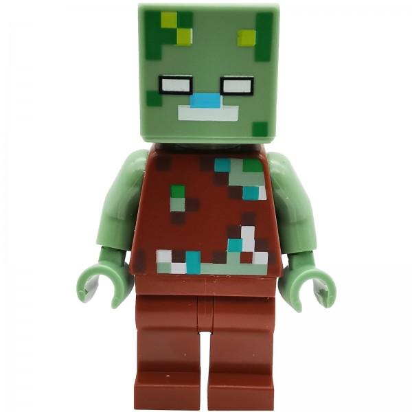 LEGO® Minecraft™ Drowned Zombie Figur
