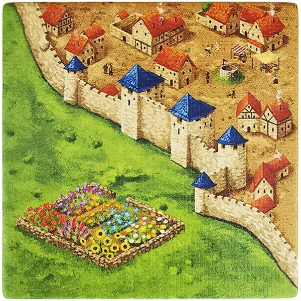 Carcassonne Plättchen N 2 / 3 mit Garten