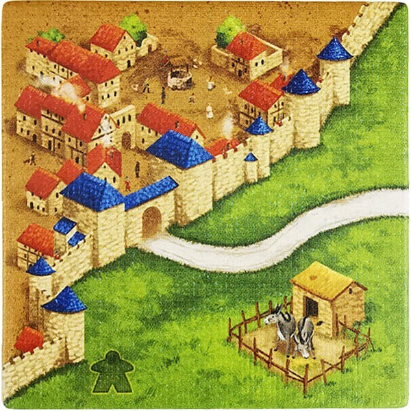 Carcassonne - Wirtshäuser und Kathedralen Plättchen EF