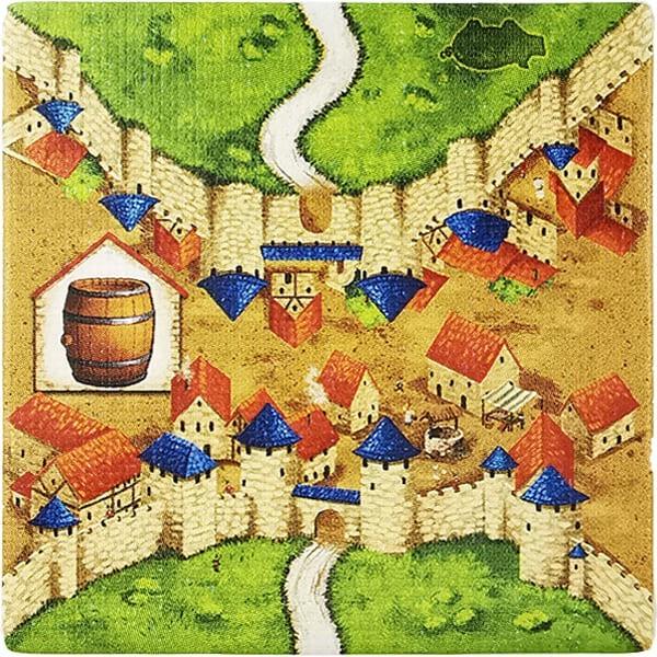Carcassonne - Händler und Baumeister Plättchen HR