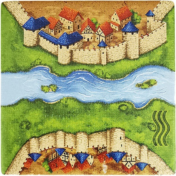 Carcassonne - Der Fluss Plättchen BB6F3