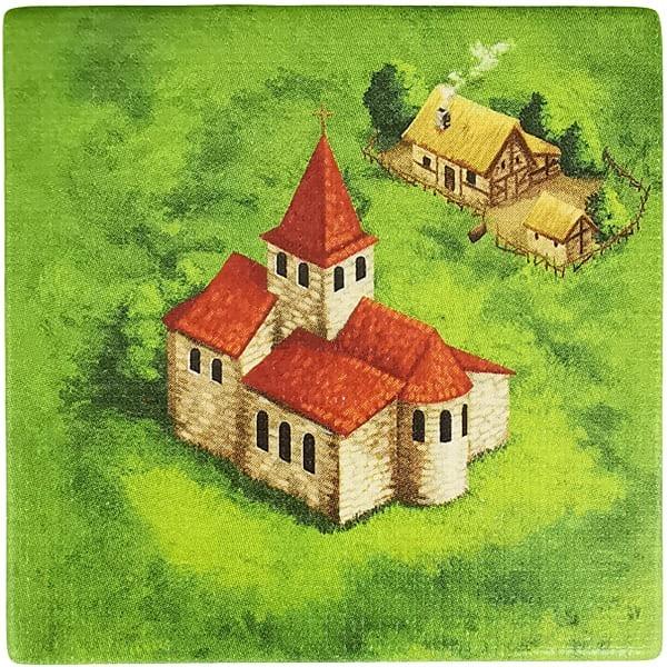 Carcassonne Plättchen B 2 / 3