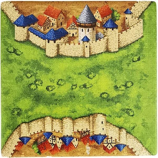 Carcassonne Plättchen H 2 / 3 mit Wasserturm