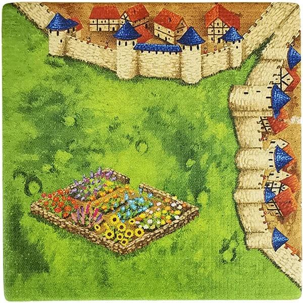 Carcassonne Plättchen I 2 / 2 mit Garten