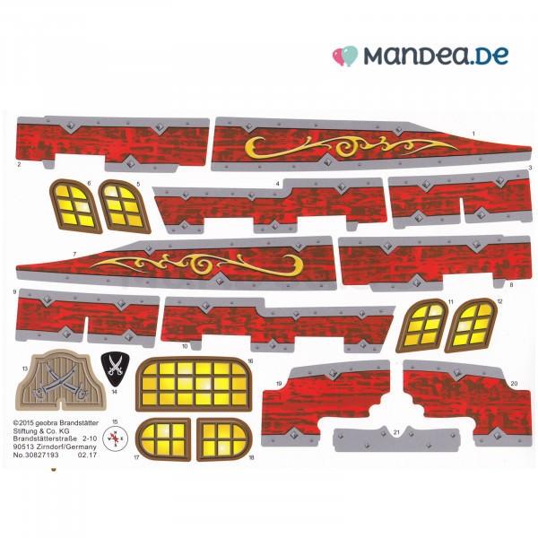 PLAYMOBIL® Etiketten Piraten Kampfschiff 30827193