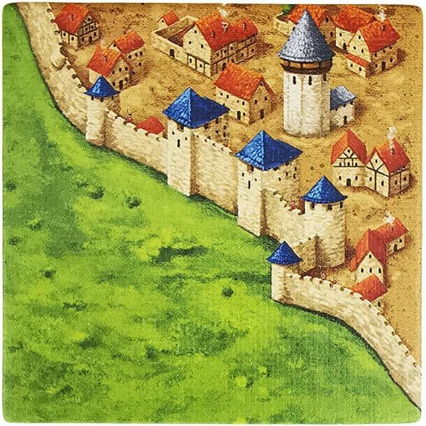 Carcassonne Plättchen N 3 / 3 mit Wasserturm