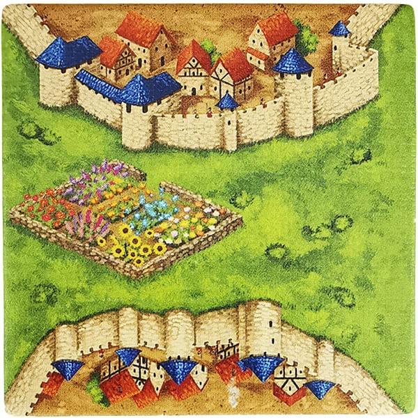 Carcassonne Plättchen H 3 / 3 mit Garten