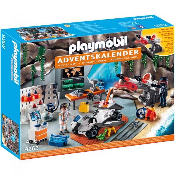 PLAYMOBIL Adventskalender - Spy Team Werkstatt 9263