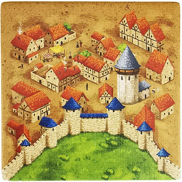 Carcassonne Plättchen R 3 / 3 mit Wasserturm
