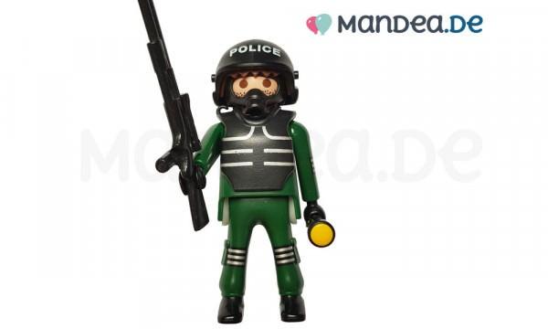 PLAYMOBIL® Polizei Figur mit Taschenlampe und Gewehr