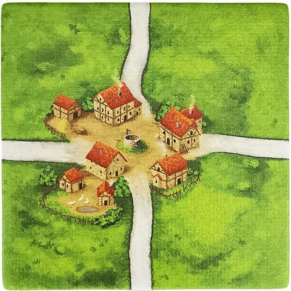 Carcassonne Plättchen X 1 / 1 Kreuzung