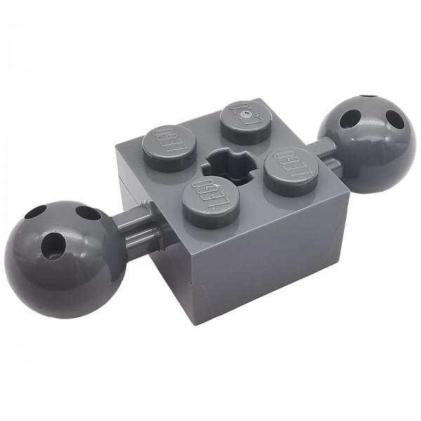 LEGO® Technik Stein mit Bällen 2 x 2 dark bluish grey 6065816