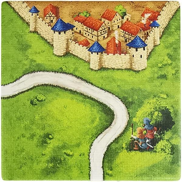 Carcassonne Plättchen K 1 / 3 mit Wegelagerer