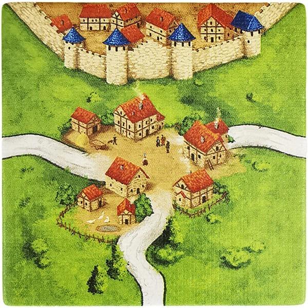 Carcassonne Plättchen L 1 / 1 Kreuzung