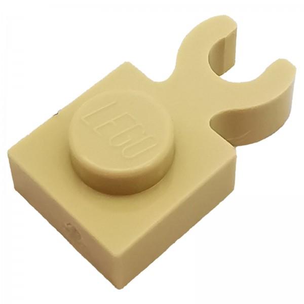 LEGO® Modifizierte Platte mit Clip 1 x 1 beige 6029889