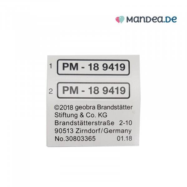PLAYMOBIL® Kennzeichen Aufkleber 30803365