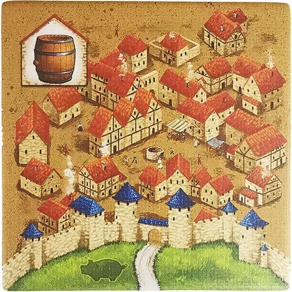 Carcassonne - Händler und Baumeister Plättchen HV