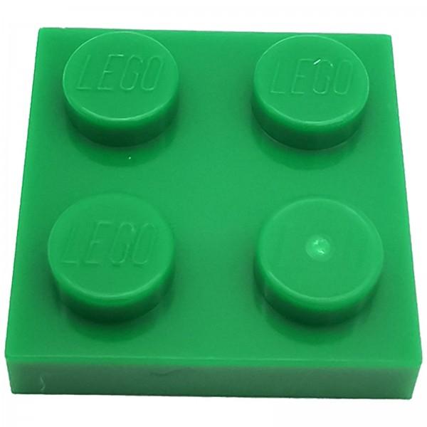 LEGO® Platte 2 x 2 grün 302228