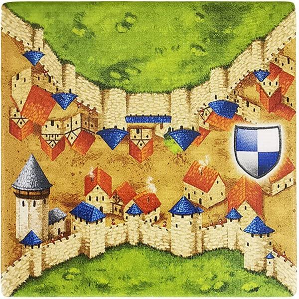 Carcassonne Plättchen F 2 / 2 mit Wasserturm