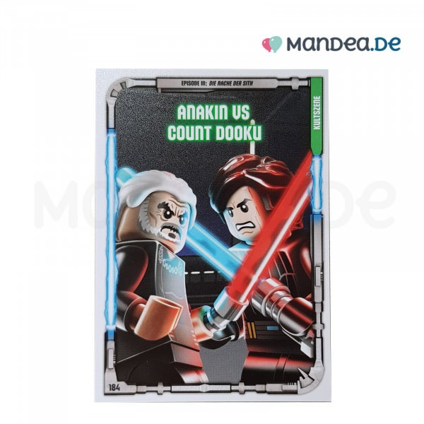 Lego Star Wars Trading Card Serie 1 Anakin vs Count Dooku 184