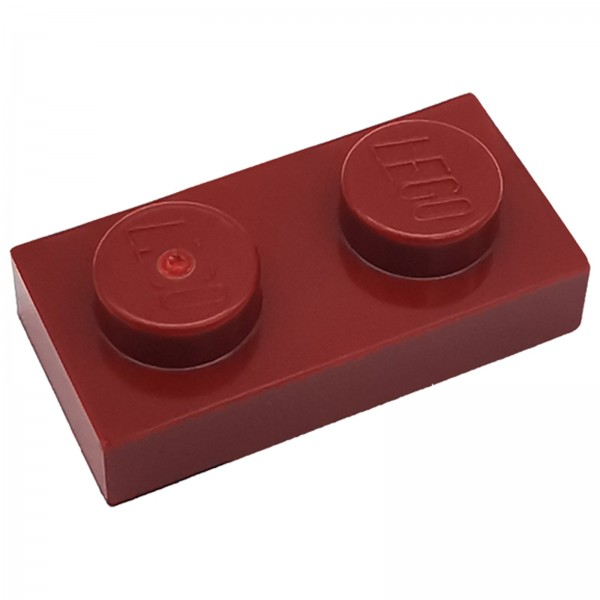 LEGO® Platte 1 x 2 dunkelrot 4539097