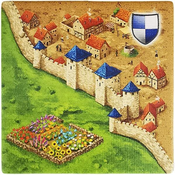 Carcassonne Plättchen M 2 / 2 mit Garten