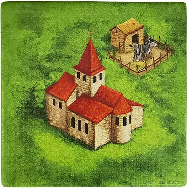 Carcassonne Plättchen B 3 / 3 mit Eselzucht