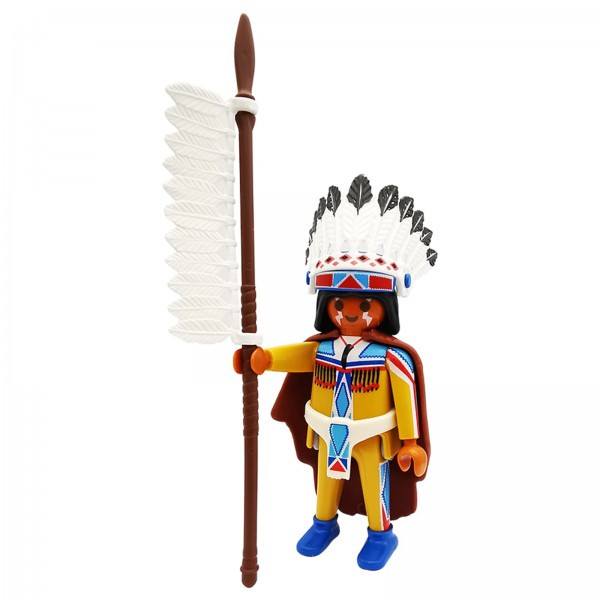 Playmobil Figures Serie 4 Indianer Häuptling k5284e