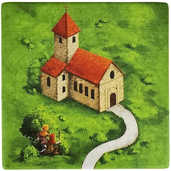 Carcassonne Plättchen A 2 / 2 mit Wegelagerer