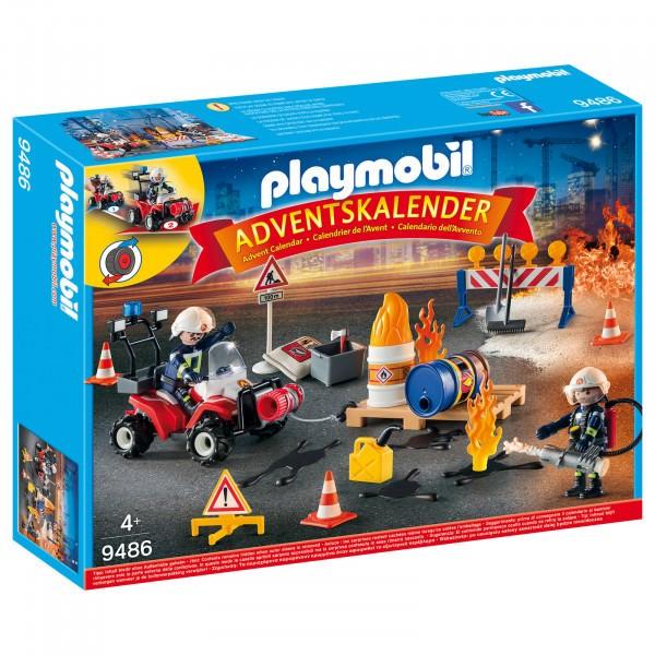 PLAYMOBIL Adventskalender - Feuerwehreinsatz auf der Baustelle 9486