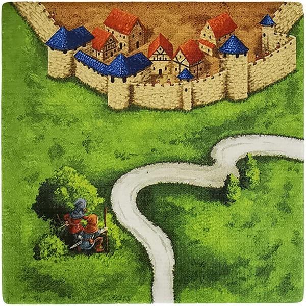 Carcassonne Plättchen J 1 / 3 mit Wegelagerer