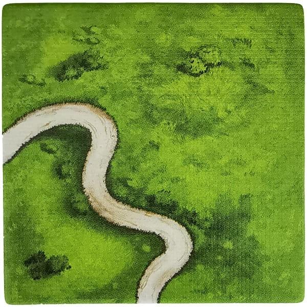 Carcassonne Plättchen V 2 / 6 Kurve II