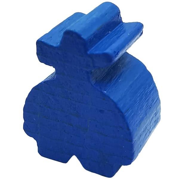 Carcassonne - Räuber Figur blau