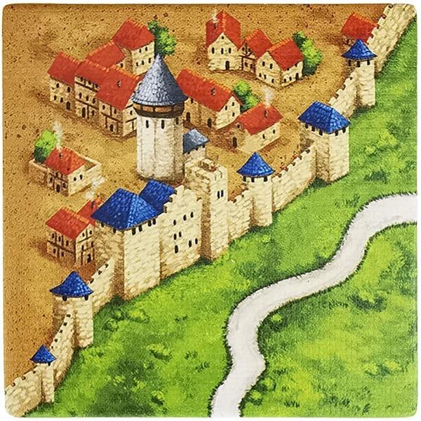 Carcassonne Plättchen P 3 / 3 mit Wasserturm