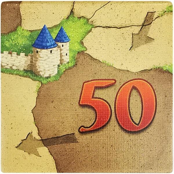 Carcassonne Wertplättchen 50