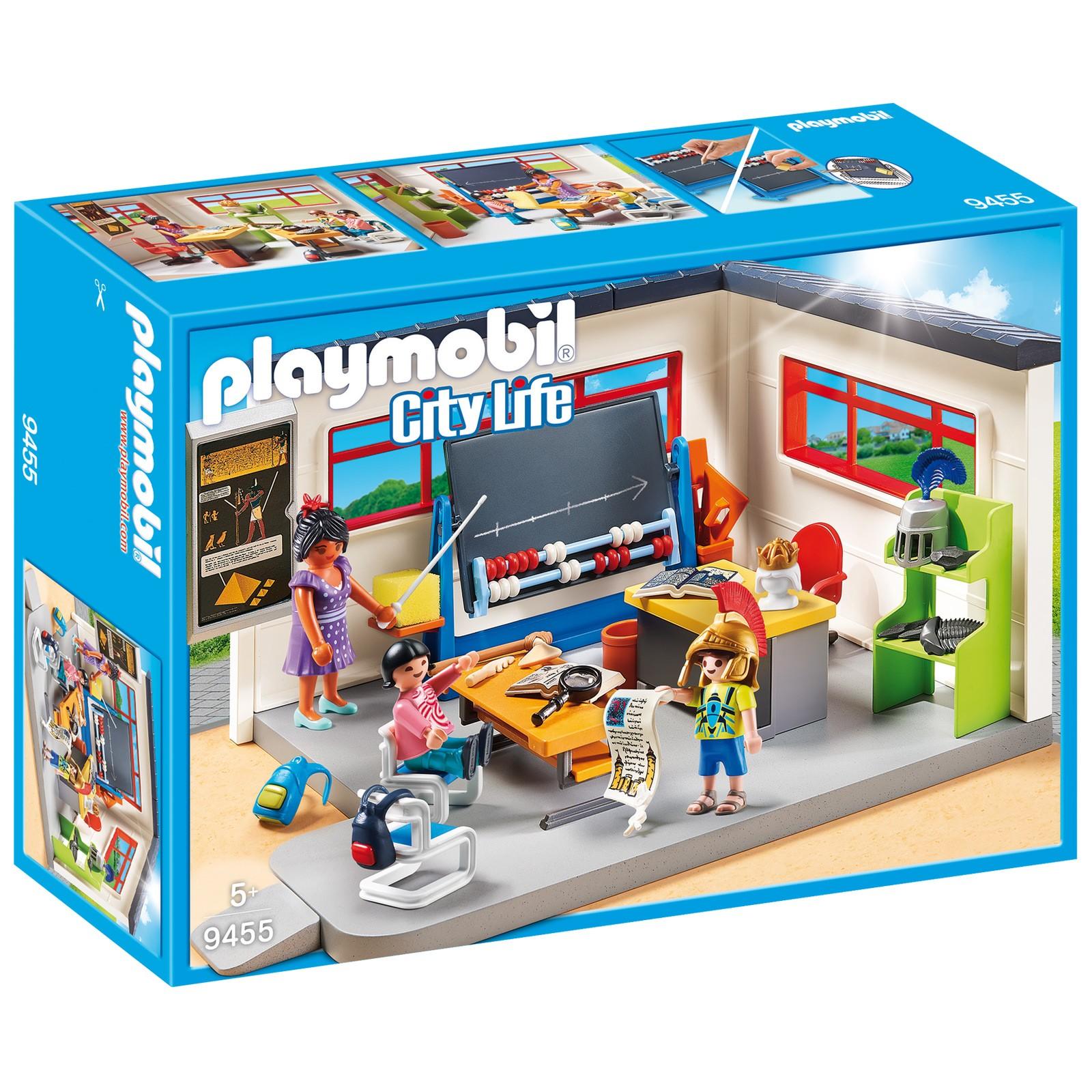 playmobil 9455 klassenzimmer geschichtsunterricht. Black Bedroom Furniture Sets. Home Design Ideas
