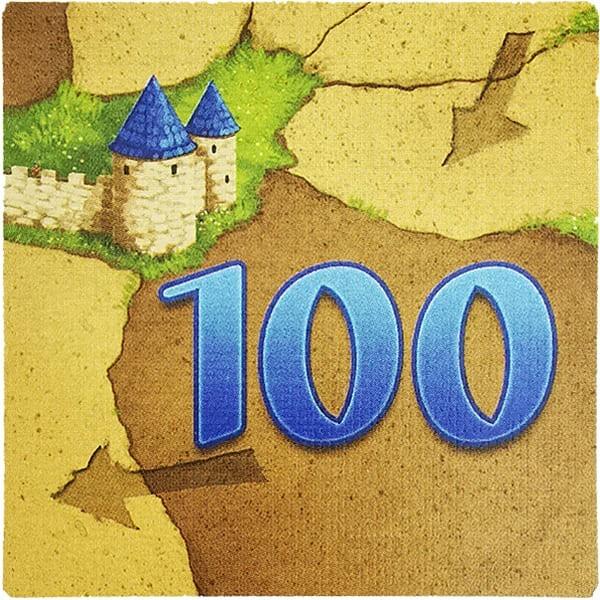 Carcassonne Wertplättchen 100
