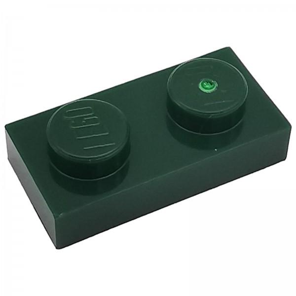 LEGO® Platte 1 x 2 dunkelgrün 6013102