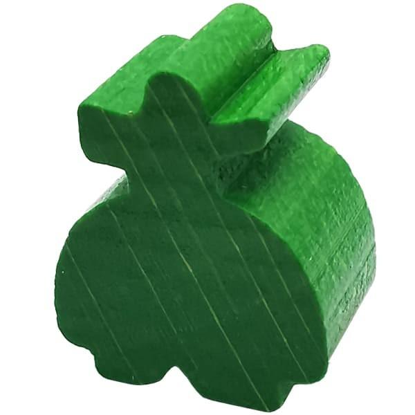 Carcassonne - Räuber Figur grün