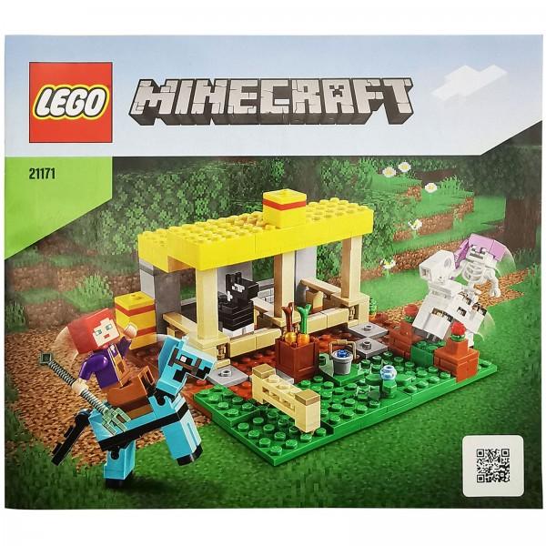LEGO® Minecraft™ 21171 Der Pferdestall Bauanleitung